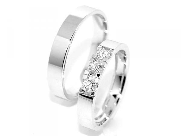 SPESIALPRIS! Forlovelsesringer / Gifteringer m/diamanter